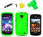Phone Case Cover Cell Phone Accessory + Extreme Band + Stylus Pen + LCD Screen Protector + Yellow Pry Tool for Straight Talk Samsung Galaxy Proclaim S720C 720C SCH-S720C (Neon Green)