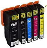 Printer-Mate NEW Compatible Replacement 5 Packs for Epson 273XL Black and Color Printer Ink Cartridge Expression Xp-600 Xp-800