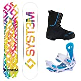 System 2013 Mai Tie Dye Ladies Snowboard Package + Siren Mystic Bindings + Theory Boots by System