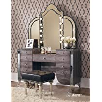 Hollywood Swank Gator Vanity Set with Mirror By Aico Amini