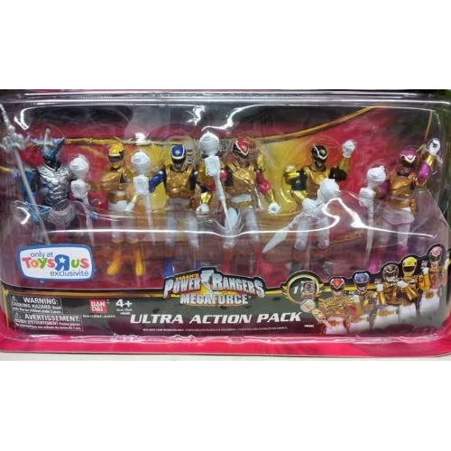 com: Power Rangers Megaforce Ultra Action Pack 6 Figure Set Ultra Mode