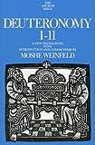 Deuteronomy 1-11 (Anchor Bible Series)