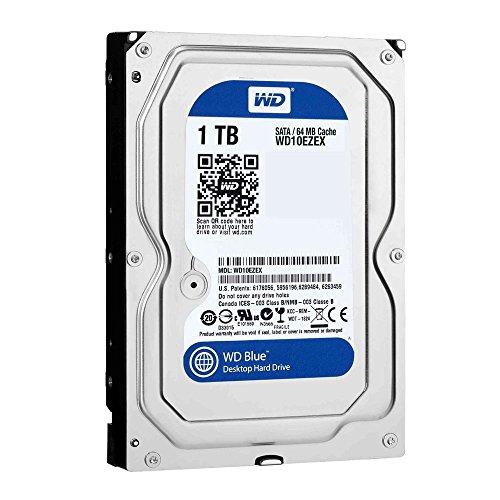 Western Digital WD10EZEX - Disco rigido WD 1TB Caviar Blue, 64 MB, 7200 RPM, SATA 6Gb/SEC