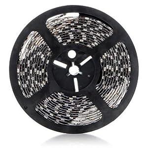SODIAL(R) 5M 300 LED 5050 SMD RGB luz de tira impermeable + 44 Mando a distancia IR clave - BebeHogar.com