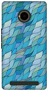 The Racoon Lean Turquoise Wave hard plastic printed back case / cover for Yu Yuphoria