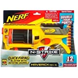 Hasbro Nerf Maverick Dart Thrower With 12 Cartridges (Including 6 Free Cartridges)