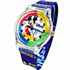 Disney Watch For Kids Mickey Mouse In Pen/Glasses Case.Large Analog Display. Colorful Band 9L.