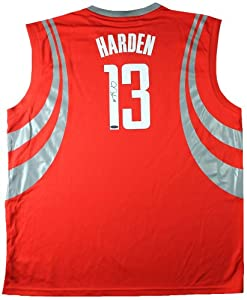 James Harden Signed Autographed Houston Rockets Red Adidas Jersey TRISTAR COA by Insider Sports Deals