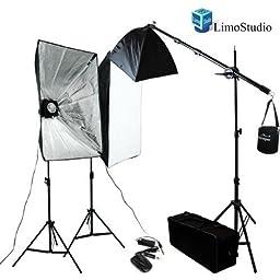 LimoStudio Photography Pro Studio Monolight Strobe Flash Lighting Light Kit - 2 x 200 W Studio Flash Strobe, 2 x 36 in x 24 in Softbox Reflectors, 2 Heavy duty Light Stands, 65W Photo Boom Lighting Kit, AGG928