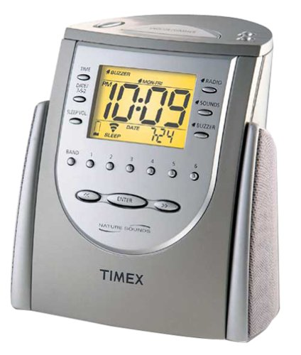 timex t309t triple alarm clock w am fm radio nature sounds w manual mint ebay. Black Bedroom Furniture Sets. Home Design Ideas