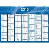 QUO VADIS - Calendrier de banque 2016 - format: 270 x 210 mm - bleu