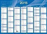 QUO VADIS - Calendrier de banque 2016 - format: 270 x 210 mm - bleu...
