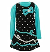 Nannette Girls 2-6x Large Dotted Corduroy Jumper