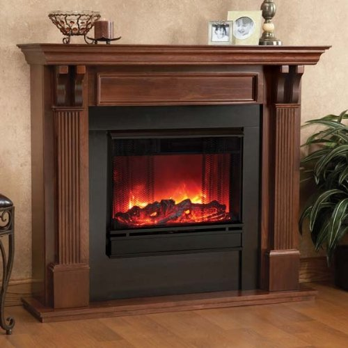 Real Flame Ashley Indoor Gel Fireplace - Mahogany