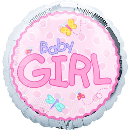 "Baby Girl Pink With Drangonfly 18"" Mylar Foil Baby Shower Party Balloon front-887354"