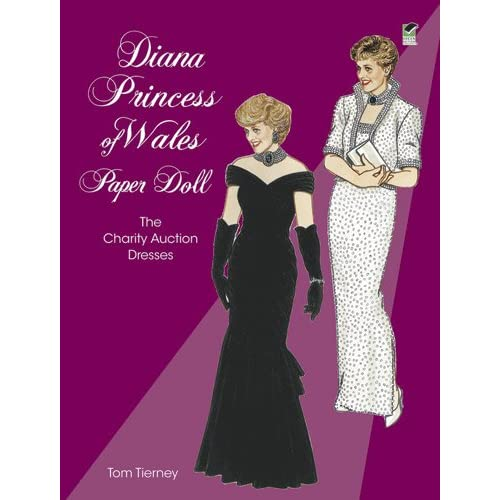 Diana-Princess-of-Wales-Paper-Doll-The-Charity-Auction-Dresses-Tom-Tierney