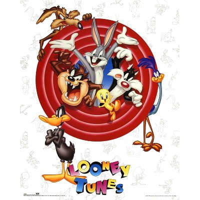 Looney Tunes Bugs Bunny and Friends Group Shot Art Print Poster