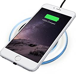 BEZALEL iPhone 6 6S Wireless Charger Kit = Qi Wireless Charging Pad + Receiver Patch Module for iPhone 6/6 Plus 6S/6S Plus - Black