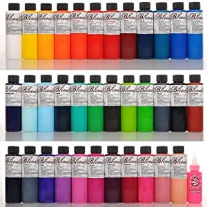 Tattoo Supplies - Skin Candy 36 Tattoo Ink Colors in 1oz. Bottles