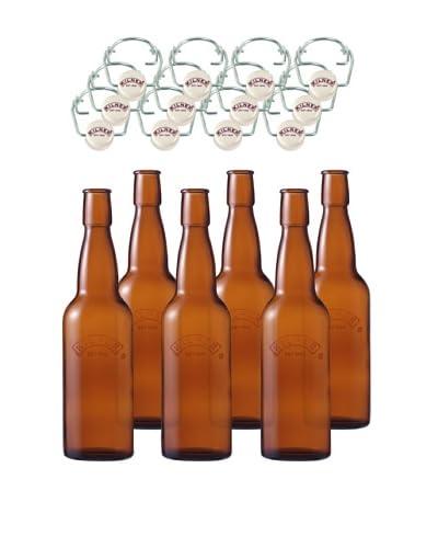 Kilner Set of 6 Home Brew 5L/16fl oz. Bottles with Swing Tops