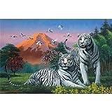 Yanoman Puzzle 1000 pièces Couple de tigre blanc