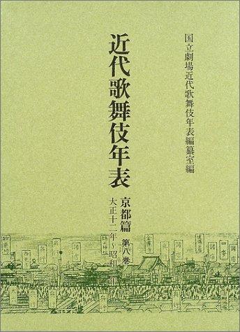 近代歌舞伎年表