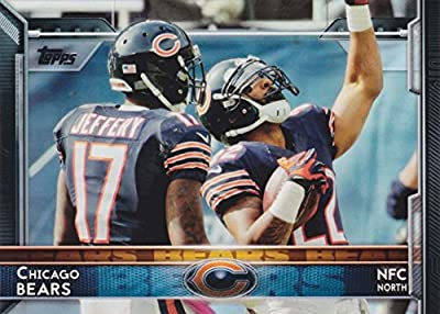 Chicago Bears 2015 Topps NFL Football Complete Regular Issue 15 Card Team Set Including Jay Cutler, Matt Forte, Kevin White Plus