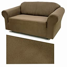 Stretch Suede Chestnut Furniture Slipcover Chair 731