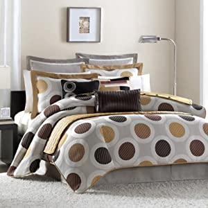 Hampton Hill Ketteredge Polyester Jacquard 10-Piece Comforter Set, King, Multi