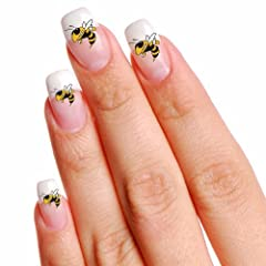 Buy Georgia Tech Yellow Jackets 16 Mini Temporary Nail Tattoos () by Football Fanatics
