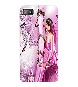ColourCraft Lovely Angel Design Back Case Cover for BLACKBERRY Z10