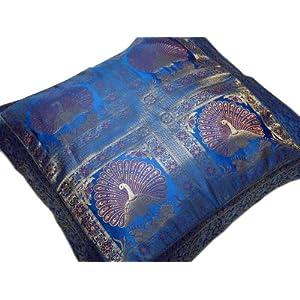 Big Blue Throw Pillows : big floor pillows: Peacock Beautiful Floor Cushion Big Blue Couch Square Decorator Pillow 26
