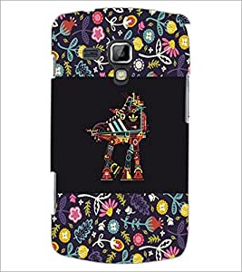 PrintDhaba Abstract Design D-5713 Back Case Cover for SAMSUNG GALAXY S DUOS S7562 (Multi-Coloured)