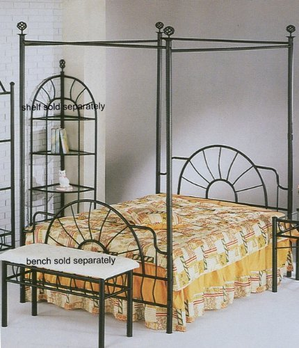 Beautiful wrought iron headboards shopswell for Brass canopy bed frame