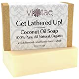 Certified Organic COCONUT OIL Soap - 100% Pure, All Natural, Aromatherapy Herbal Bar Soap - 4oz