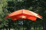 8' Outdoor Lotus Fiberglass Wind Resistant Patio Umbrella - Orange