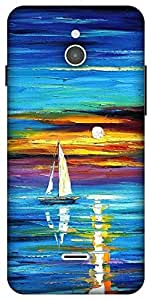 The Racoon Lean sunset hard plastic printed back case / cover for Infocus M2