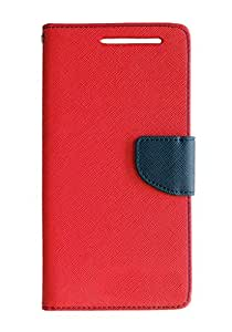 Mobi Fashion Flip Cover For Sony xperia L - Red