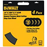 DEWALT DW8001B4 Heavy Duty 14-Inch by 7/64-Inch by 1-Inch General Purpose Chop Saw Wheel (4-Pack)