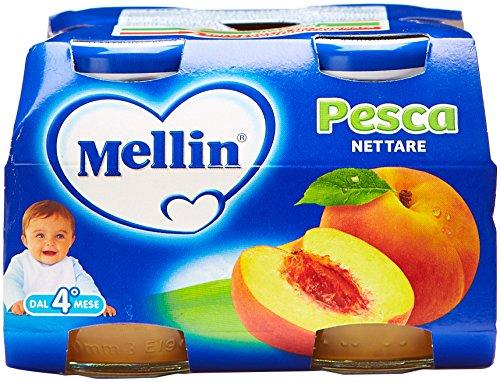 Mellin - Nettare Pesca, 125ml (Confezione da 4)