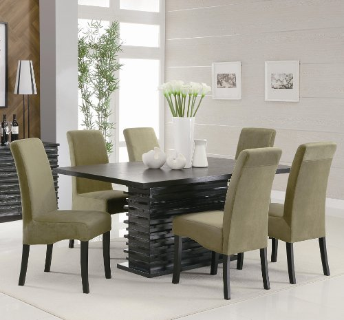 7pc black contemporary dining table set price drop