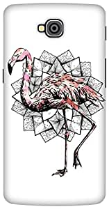 The Racoon Grip Fractal Flamingo hard plastic printed back case / cover for LG G Pro Lite