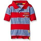 U.S. Polo Assn. Big Boys Striped Jersey Polo Shirt, Engine Red, 18