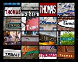 THOMAS Personalized Name Poster Using Sign Photos