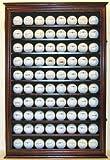 80 Novelty / Souvenir Golf Ball Display Case Holder Cabinet, with glass door, MAHOGANY Finish (GB80-MA)