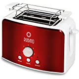Team-Kalorik-Group TKG TO 1200 R Design-Toaster, trendigen metallic, rot