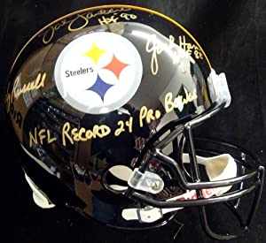 Jack Lambert, Jack Ham & Andy Russell Autographed Pittsburgh Steelers Full Size...