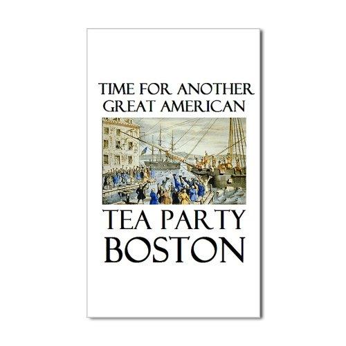 Cafepress Tea Party Boston Rectangle Sticker Sticker Rectangle - Standard