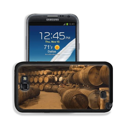 Wooden Wine Barrels Cellar Basement Samsung Galaxy Note 2 Snap Cover Premium Leather Design Back Plate Case Customized Made To Order Support Ready 6 Inch (152Mm) X 3 2/8 Inch (82Mm) X 4/8 Inch (13Mm) Msd Galaxy Note 2 Professional Leather Plastic Cases To front-615519