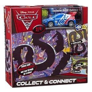 Disney/Pixar CARS 2 COLLECT & CONNECT 24 PIECE Puzzle 2/4: Tokyo W/ EXCLUSIVE RAOUL CaROULE die-cast 1:55 scale vehicle